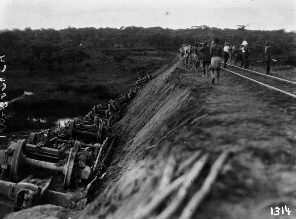 1314. Музец.  Упавшие вагоны возле Мунгулунгаса