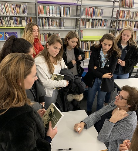 Zahava Kohn with pupils at the French Lycee, London. December 2018 | by Surviving The Holocaust