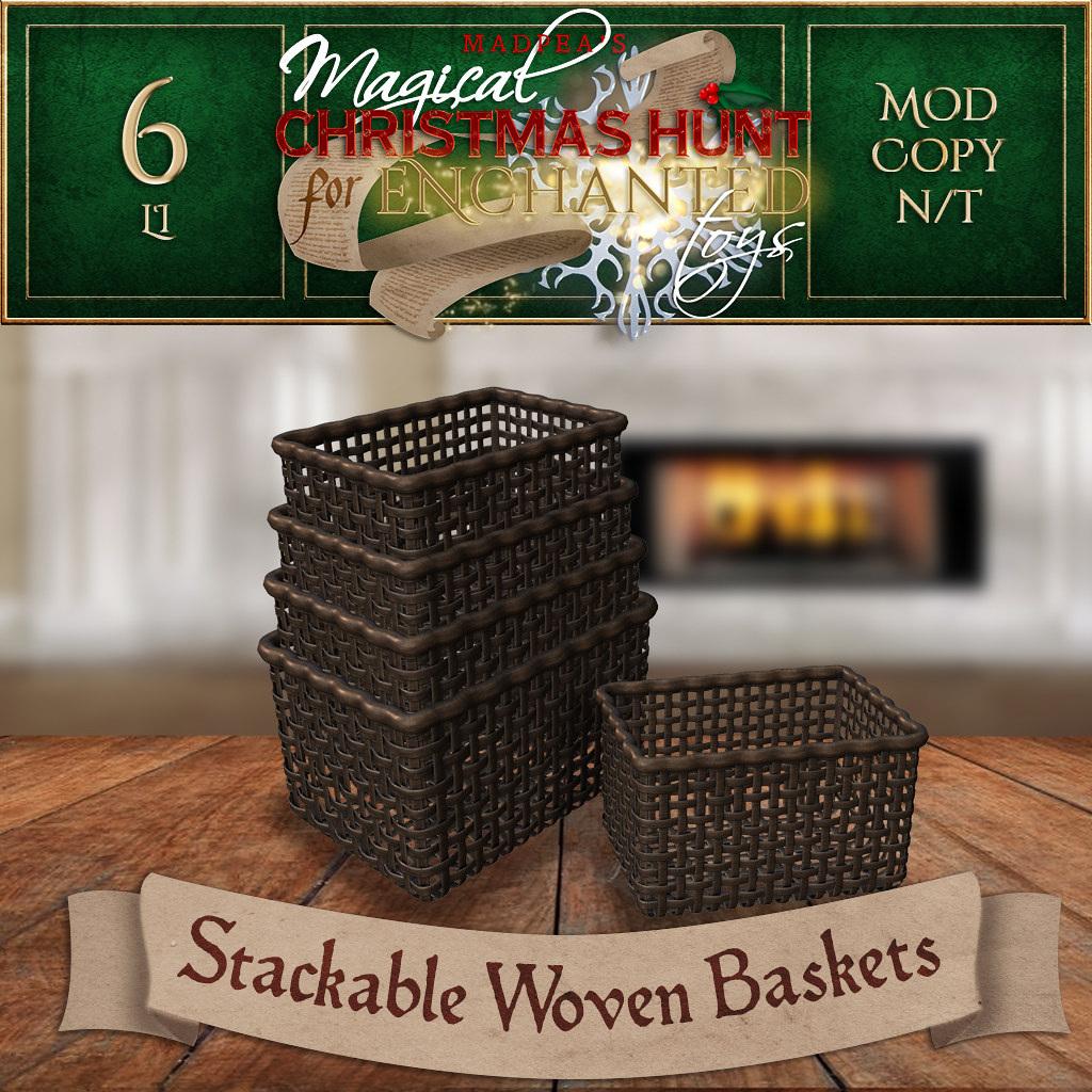 Stackable Woven Baskets