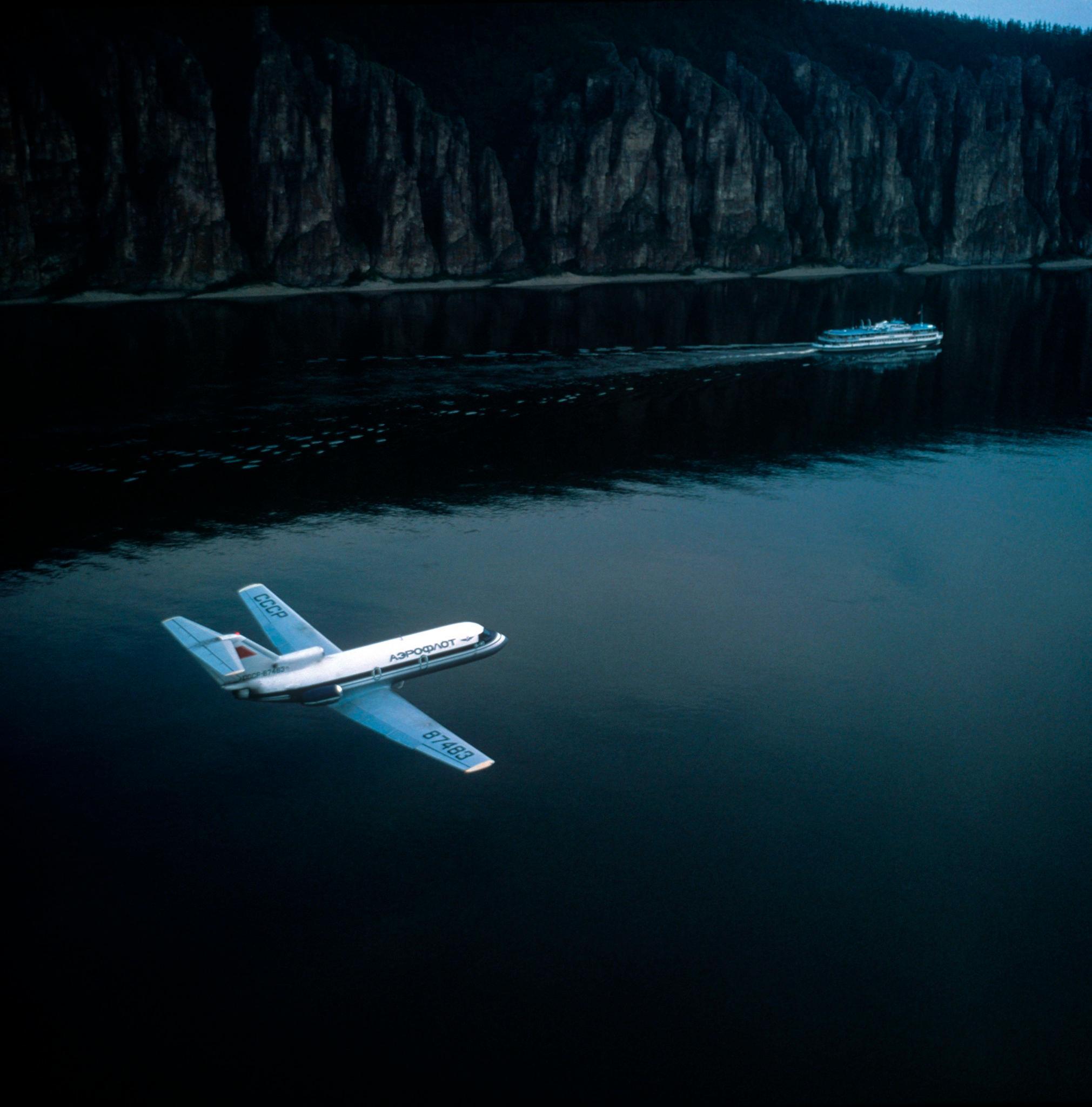 1970-е. Самолет над Леной