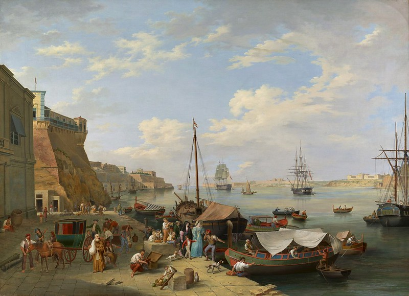 Anton Schranz - Malta Harbour (c.1800)
