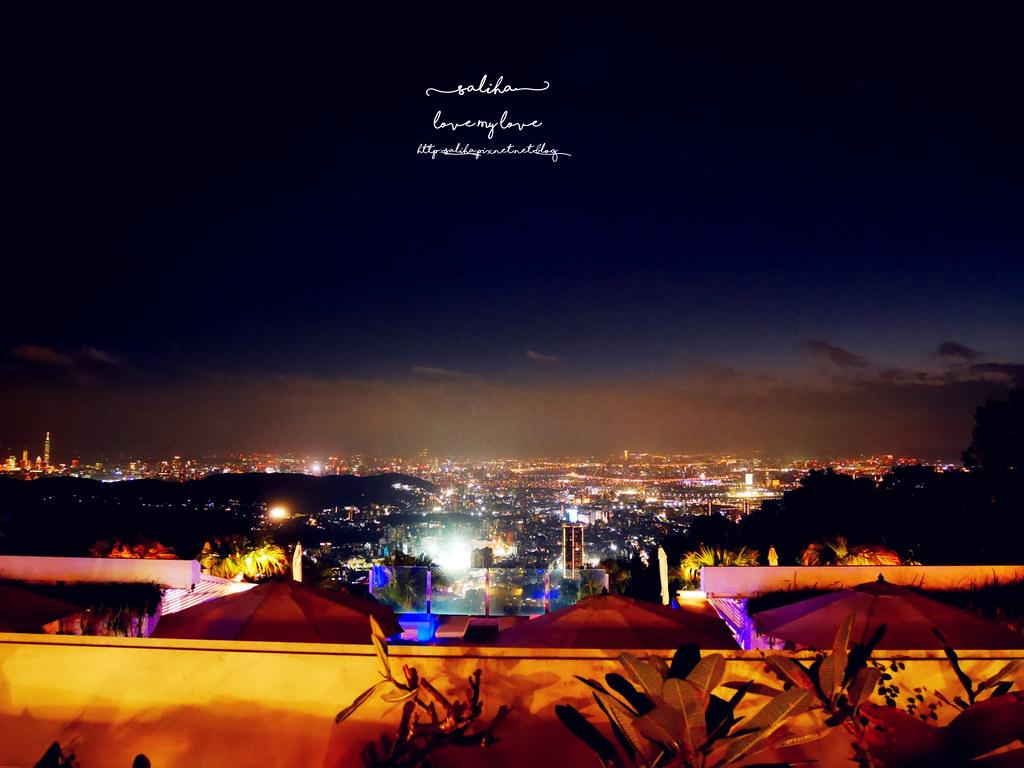 台北陽明山一日遊必吃必玩行程景點推薦THETOP屋頂上好吃景觀餐廳看夜景池畔 (6)