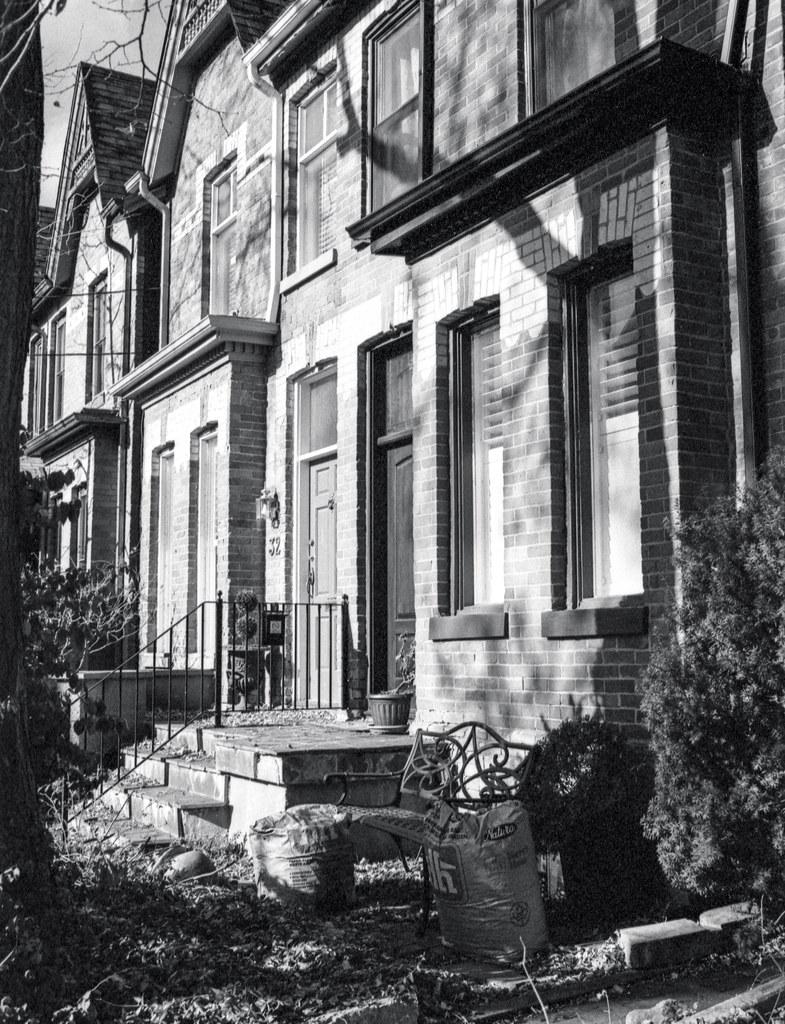 Row House in November Shadows