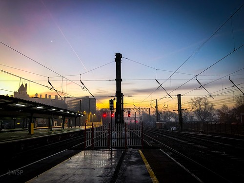 saturn moon sunrise sunset rail track train station preston