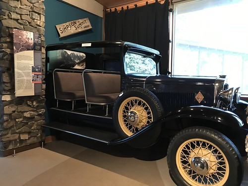 Banff Whyte Museum Auto used during King George VI and Queen Elizabeth's visit in 1939 Jim Brewster's Packard. From History Comes Alive in Banff National Park