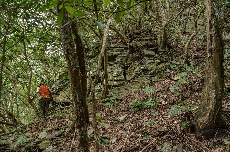 法範山南峰岩石峭壁地形 (1)