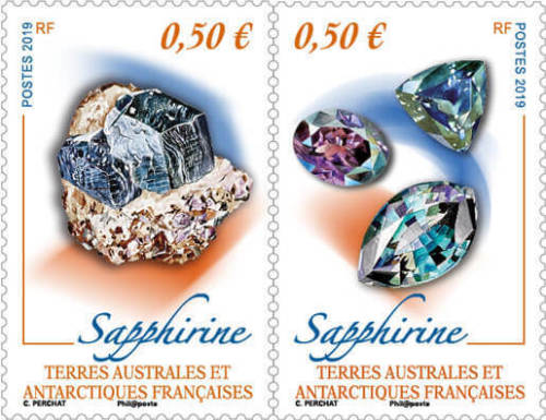 French Southern and Antarctic Lands - Minerals: Sapphire (January 2, 2019)