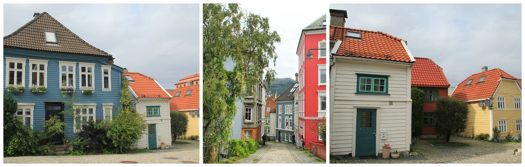 Colourful wooden houses, Bergen