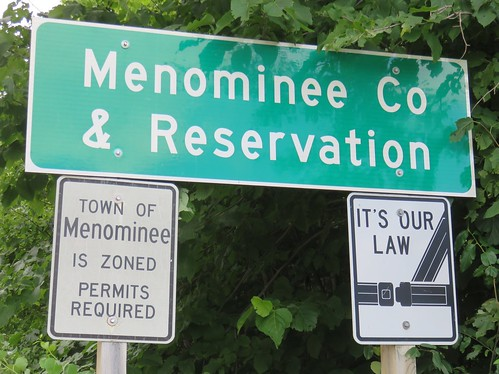 Menominee County Sign (Menominee County, Wisconsin)