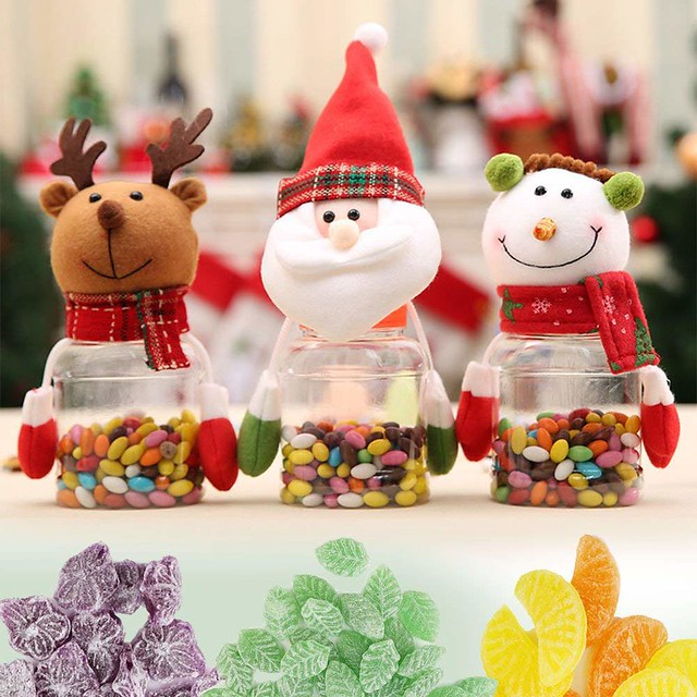 Christmas Candy Jars Cum Food Storage Containers