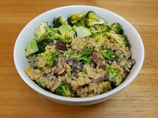 Broccoli and Mushroom Freekehzotto