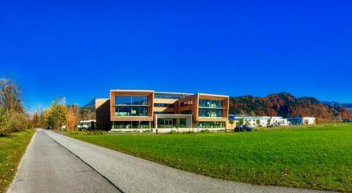 Office building near Niederndorf by the river Inn in Tyrol, Austria