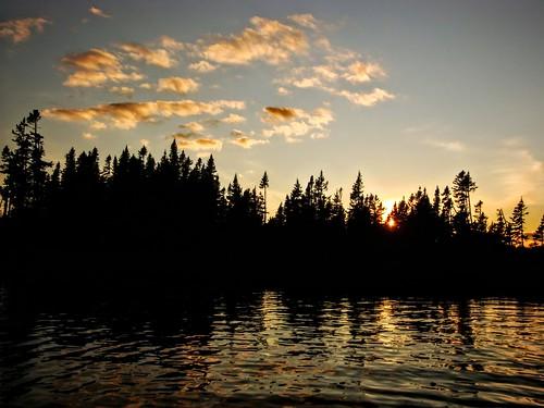 Evening canoeing
