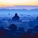 Bagan stupas at dawn