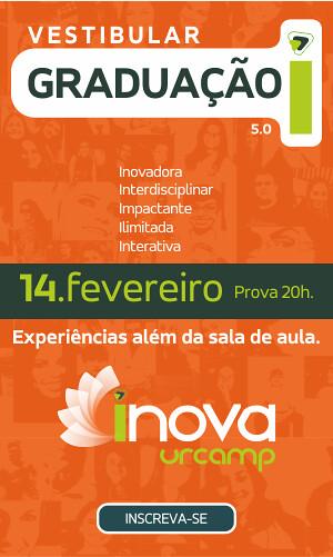 Vestibular Inova Urcamp - 14 de fevereiro - Inscreva-se CLICANDO AQUI