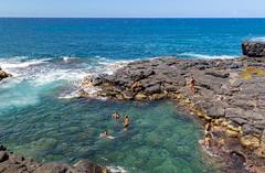 Swimming in Princeville pools Kauai Hawaii