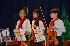 Violinists At The School Christmas Concert