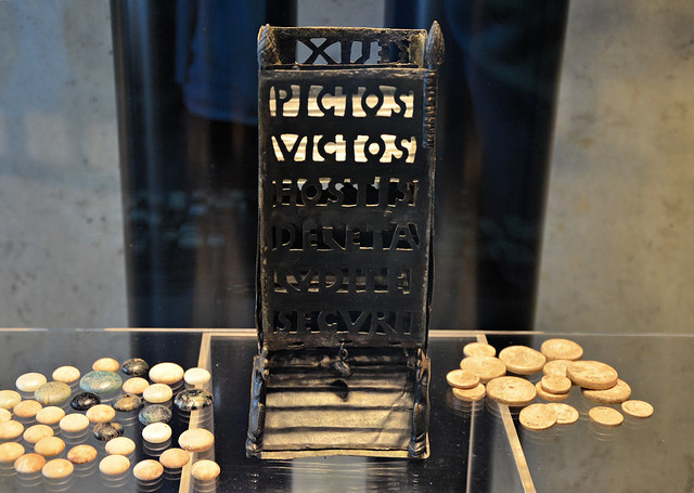 Roman dice tower (pyrgus or turricula) with the inscription