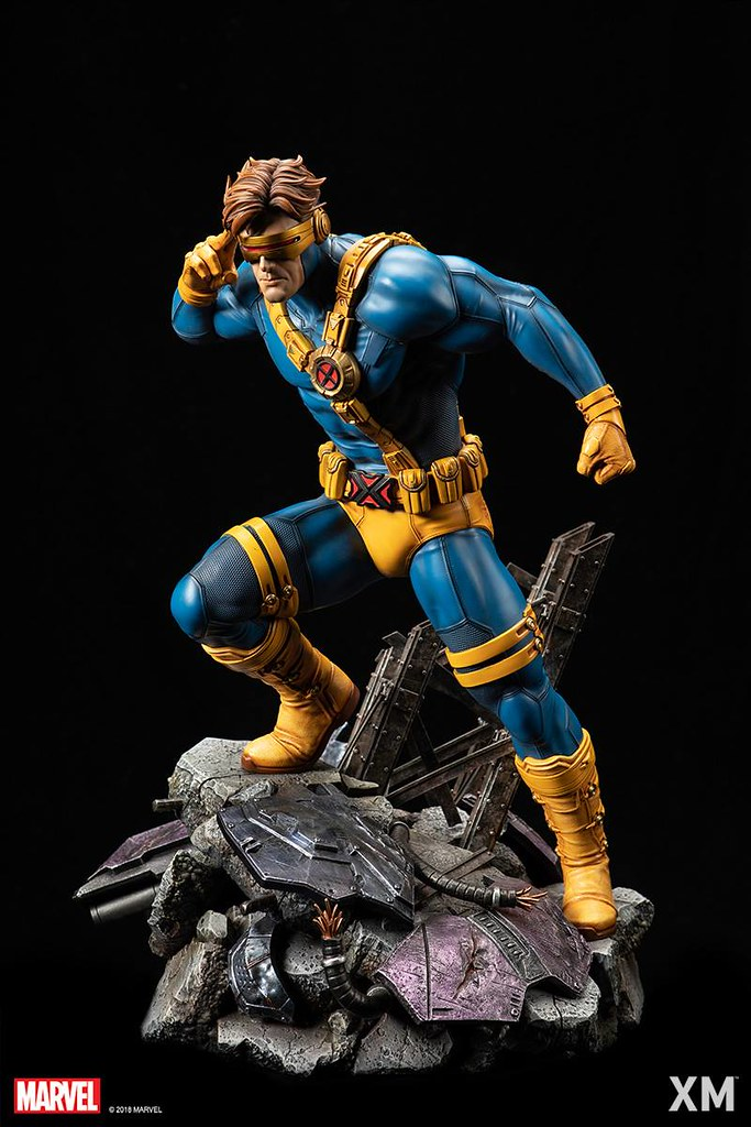 XM Studios Premium Collectibles 系列 Marvel【獨眼龍】Cyclops 1/4 比例全身雕像作品 A版本/B版本