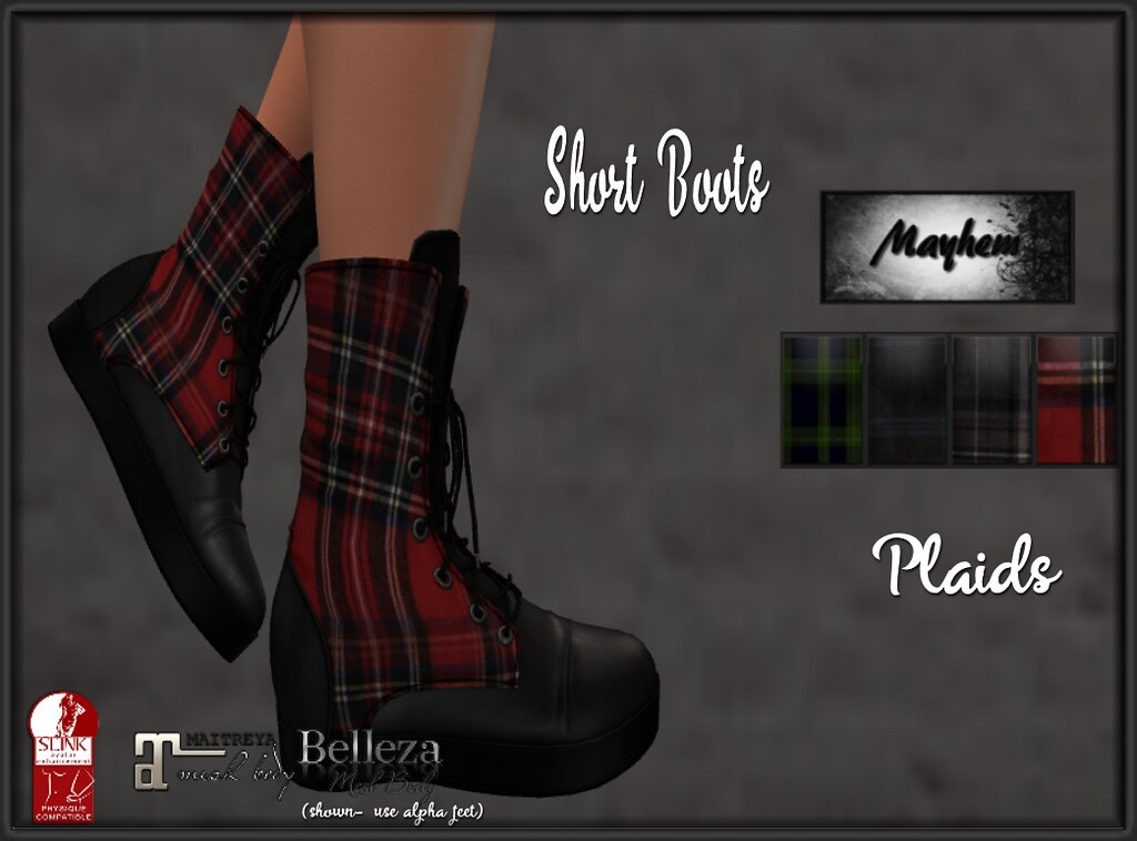 Mayhem Short Boots Plaids Set - TeleportHub.com Live!