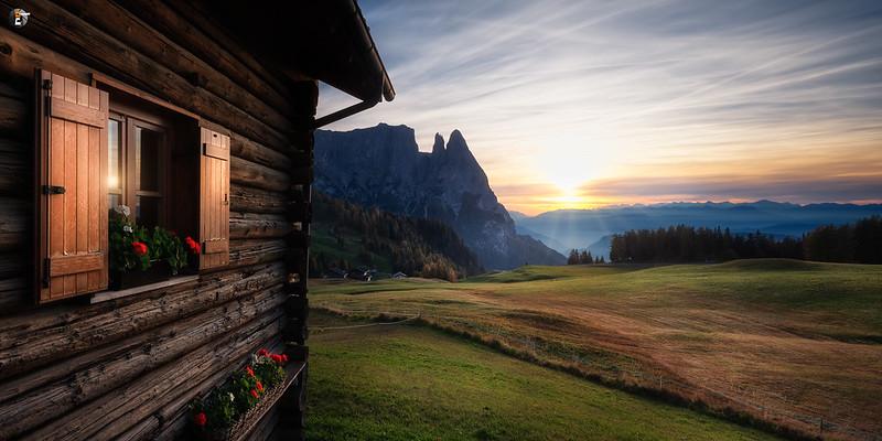 Sunset on Alpe di Siusi