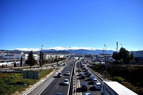 Carretera en Granada España