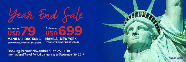 Philippine Airlines Year End Sale 2018 International