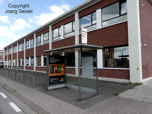 BE-9200 Baasrode Stoomtrein Dendermonde-Puurs Bushaltestelle im August 2018