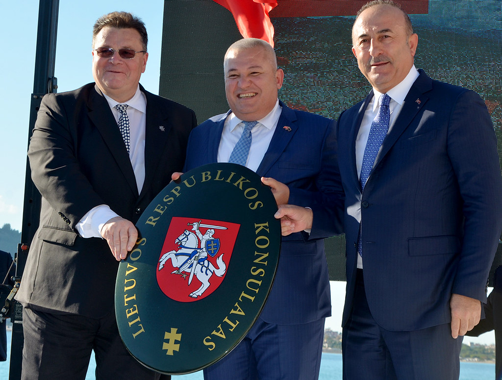 Linas Linkevicius, Mehmet Şahin, Mevlüt Çavuşoğlu