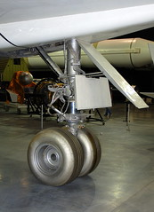 North American XB-70A Valkyrie nosewheel detail, National Museum of the US Air Force, Dayton, Ohio, USA.