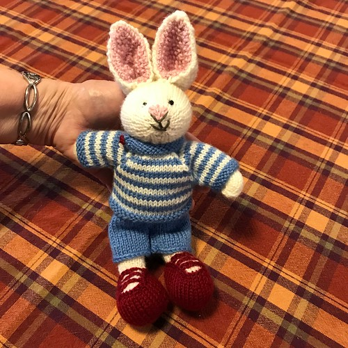 June's bunny (Boy Bunny by Julie Williams of Little Cotton Rabbits)