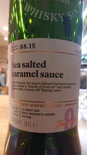 SMWS 88.15 - Sea salted caramel sauce