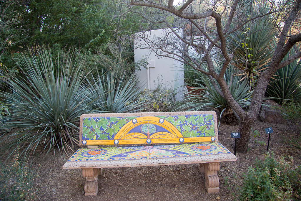 Colorful bench