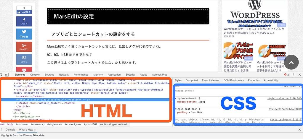 検証HTMLCSSの場所