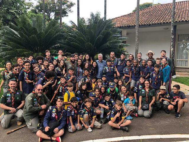08 de dezembro de 2018 - A Residência Oficial de Águas Claras teve honra de receber a visita do Grupo de Escoteiros de Águas Claras.