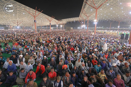 A view of huge gathering of devotees
