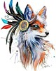 In nature spectrum signed Art Print Fox wild life by PixieColdArt ~ #Fox #Foxes #FantasticFoxes