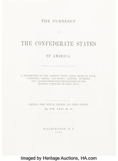 Lee Currency of the Confederate States of America