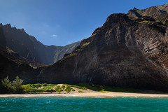Honopu Beach Na Pali Coast Kauai Hawaii