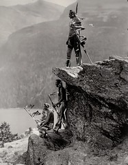 """""""The Eagle"""" by Roland W. Reed. Native Americans of the Blackfoot tribe in Glacier National Park, Montana (ca. 1913)"""