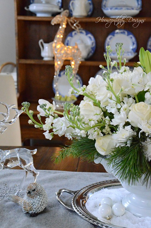 White Christmas Centerpiece-Housepitality Designs-13