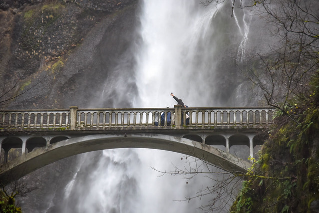 Benson Bridge at Multnomah Falls