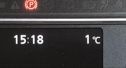 諏訪市 12月のある晴れた日の外気温