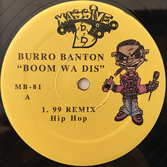 BURRO BANTON:BOOM WA DIS(LABEL SIDE-A)