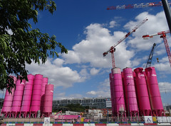 Pink construction