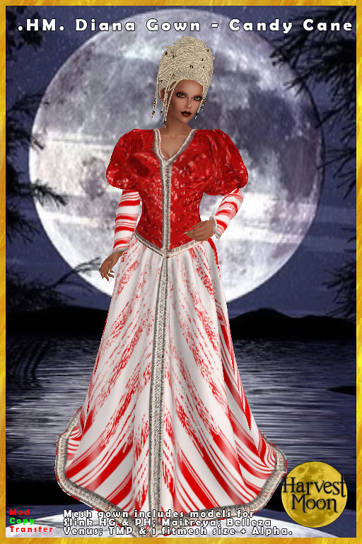 Harvest Moon – Diana Gown – Candy Cane