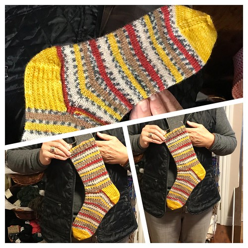 Knitnut246's socks knit with West Yorkshire Spinner's Signature 4 Ply in Goldfinch