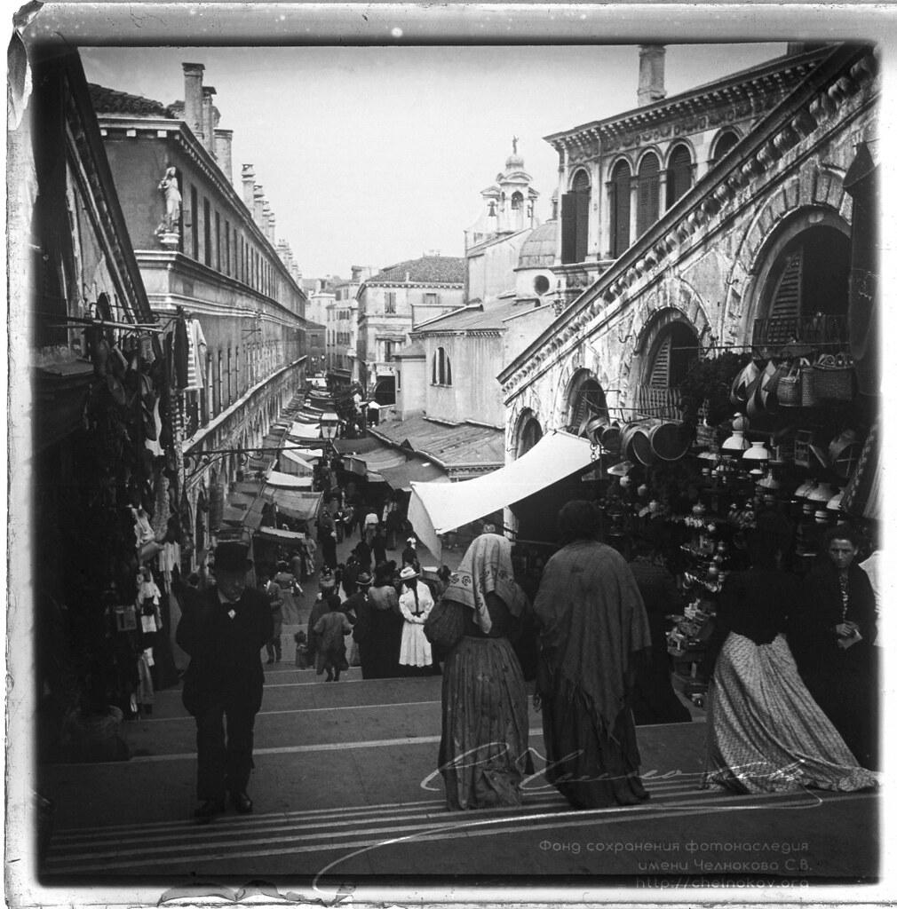 Венеция. Вид на улицу Мерсери. Сентябрь 1900