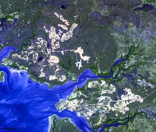 The world's largest bauxite mine found near Weipa, Queensland, Australia. Original from NASA. Digitally enhanced by rawpixel.