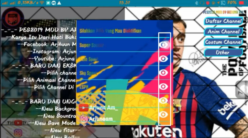Fts Mod Pes 2019 Pro by Arjuna Am-3 | Download this game on